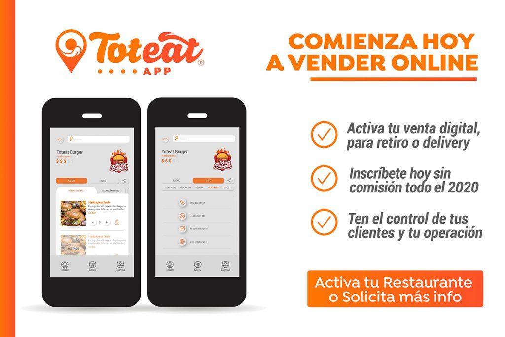 Toteat App para Restaurantes