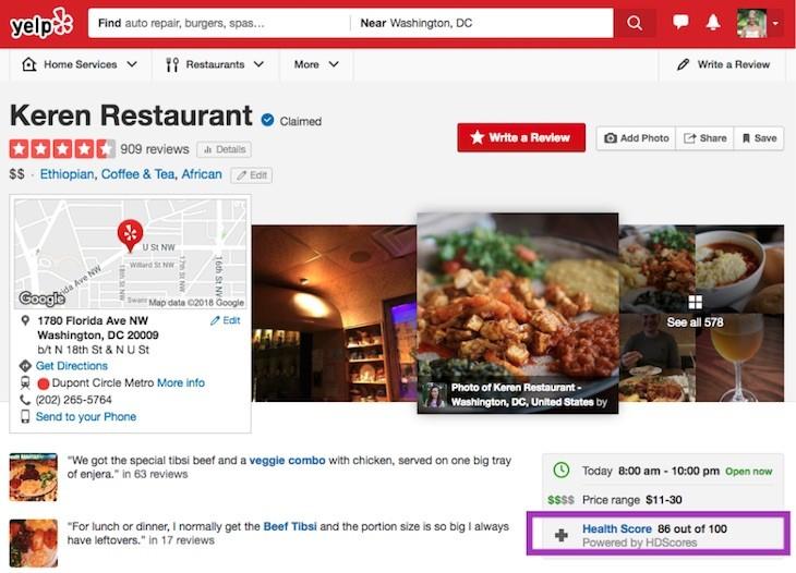 Yelp para Restaurantes